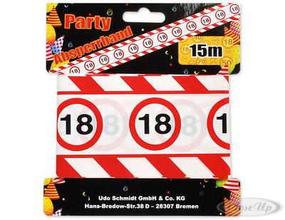 Party Absperrband mit Verkehrszeichen 18