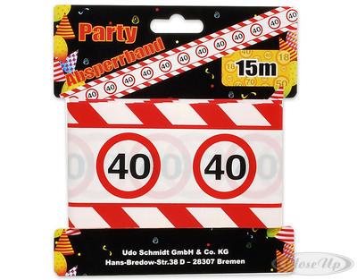 Party Absperrband mit Verkehrszeichen 40