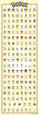 Pokémon Türposter Charaktere