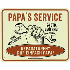 Papa's Service Sheet Metal Sign