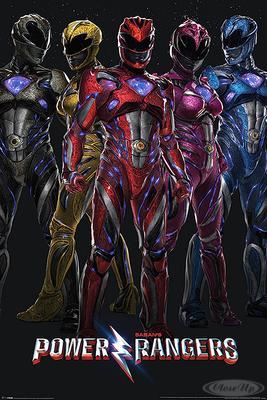 Power Rangers Poster Film Gruppe