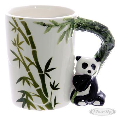 Panda Tasse 3D Henkel mit Bambus jetztbilligerkaufen