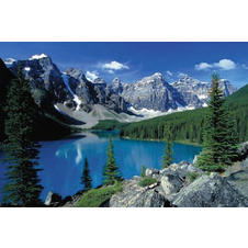 ROCKY MOUNTAINS POSTER MORAINE