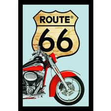 Route 66 Spiegel Red Bike