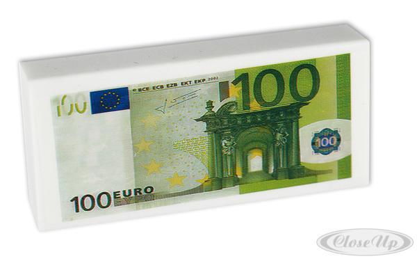 Radiergummi 100 Euro - Scherzartikel