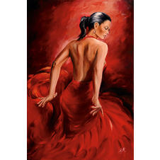 Red Dancer Poster R. Magrini