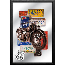 Route 66 Mirror Bike & Plates