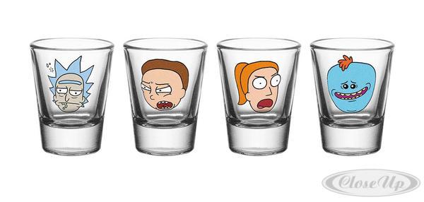 Rick and Morty Schnapsgläser-set Charaktere