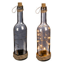 Decorative glass bottle with LED lights