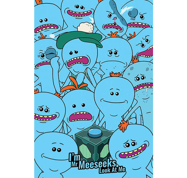 Rick and Morty Poster Meeseeks