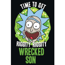 Rick and Morty Poster Wrecked