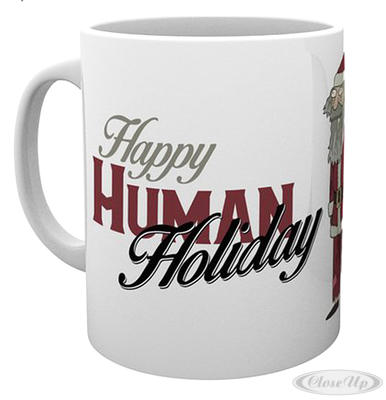 Rick and Morty Tasse Happy Human Holiday - broschei