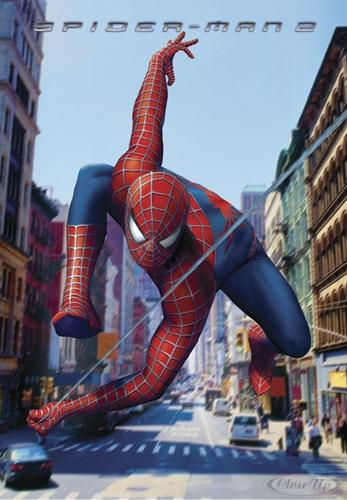 Spider-Man 2 Poster Swinging