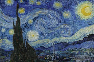 Starry Night Poster Vincent Van Gogh