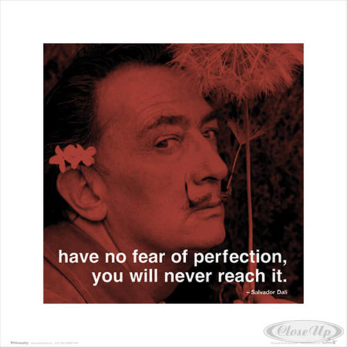 salvador dali have no fear of perfection. Black Bedroom Furniture Sets. Home Design Ideas
