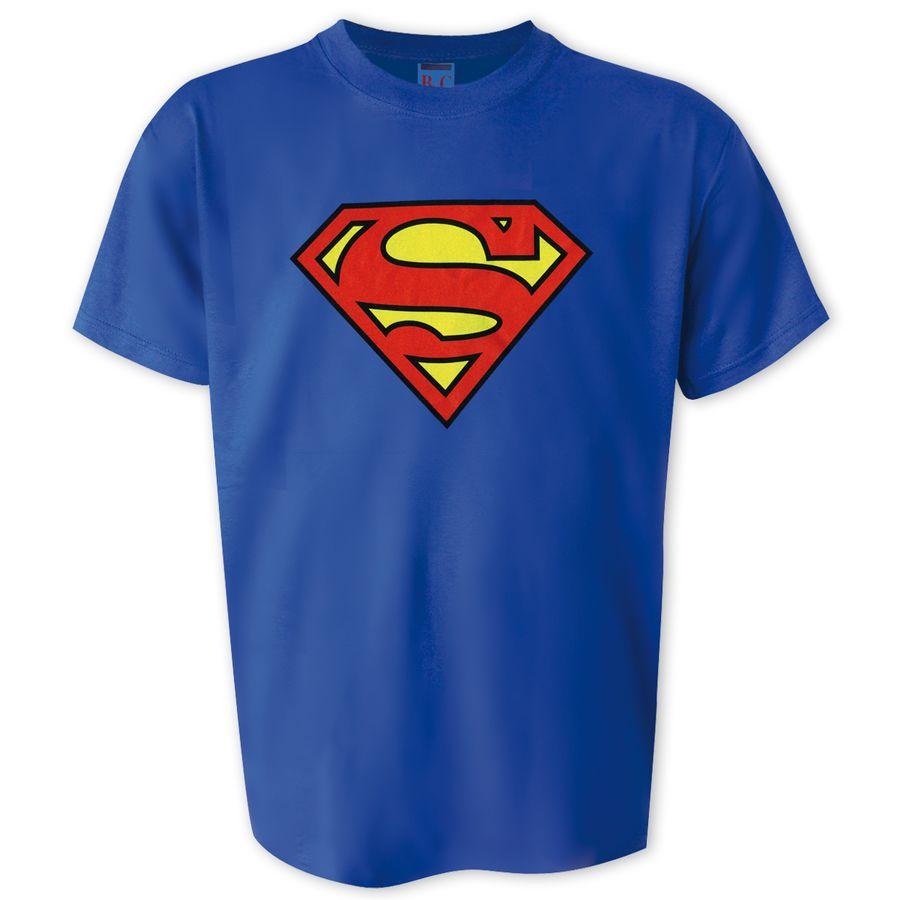 superman t shirt mit superman logo in gr e s xl g nstig kaufen. Black Bedroom Furniture Sets. Home Design Ideas