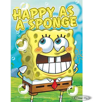 Spongebob 3D Poster Happy as a Sponge