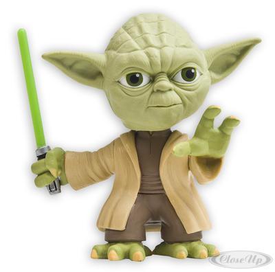Star Wars Yoda Headknocker mit grünem Lichtschwert