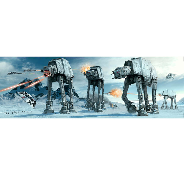 Star Wars Poster AT-AT Fight