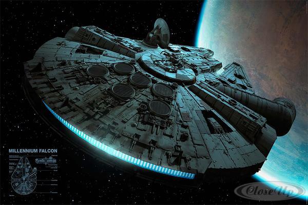 Star Wars Poster Millennium Falcon
