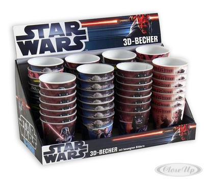 Star Wars 3D-Lentikular-Becher mit bewegten Bil...