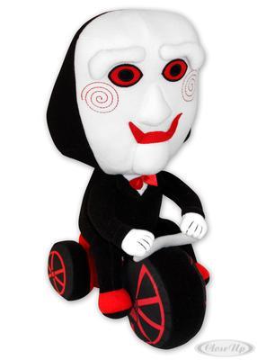 Saw Puppet Clown Plüschfigur auf Dreirad 32cm   Kinderzimmer > Spielzeuge > Stofftiere