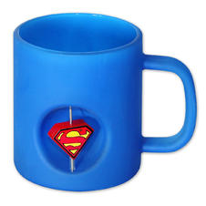 Superman Mug with spinning 3D Logo