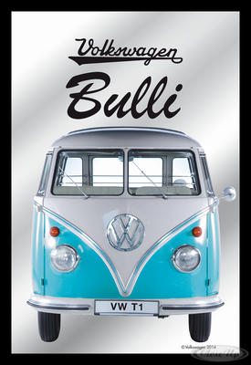 Spiegel VW Bulli VW Lizenz Wandspiegel