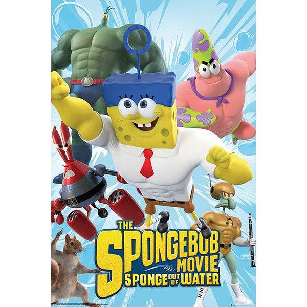 spongebob schwammkopf poster sponge out of water poster. Black Bedroom Furniture Sets. Home Design Ideas
