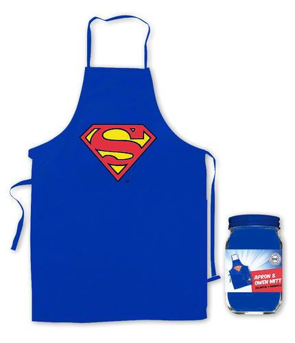 Superman Grillschürze und Ofenhandschuh Logo - für die Küche