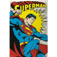 Superman Poster Retro Comic