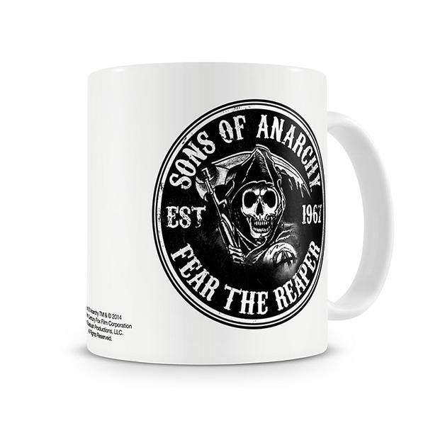 sons of anarchy tasse fear the reaper bei close up kaufen. Black Bedroom Furniture Sets. Home Design Ideas