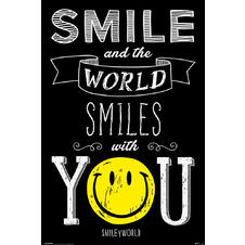 "SmileyWorld ""Smile and the World Smiles with You"" Poster"