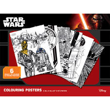 "Star Wars ""Classic"" Colouring Poster (6 pieces)"