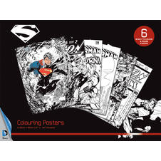 Superman DC Comics Colouring Poster (6 pieces)
