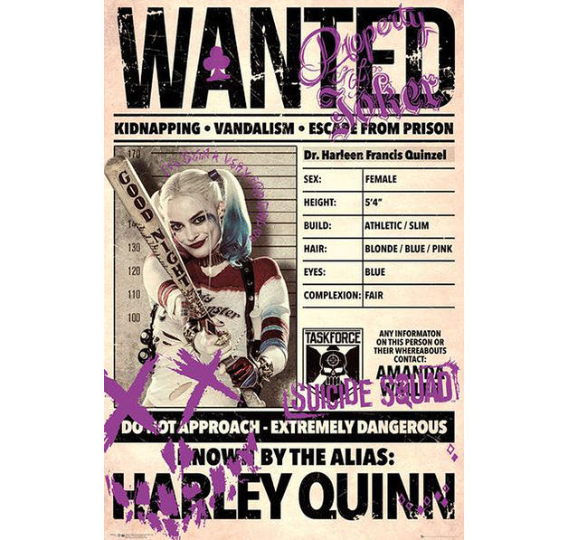 Suicide Squad Poster Wanted