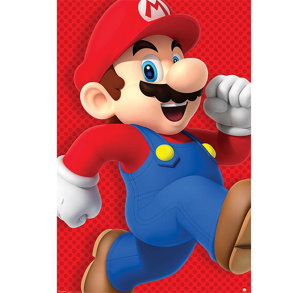 super mario poster run poster gro format jetzt im shop bestellen close up gmbh. Black Bedroom Furniture Sets. Home Design Ideas