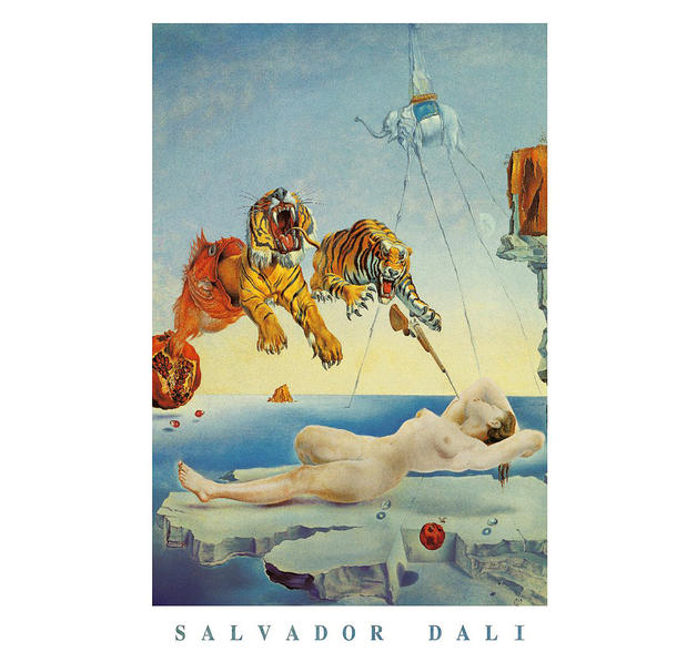salvador dali dream caused by Browse a wide range of salvador dali prints,  the eccentric spanish surrealist painter salvador dalí is famous for his bizarre and  dream caused by a bee.