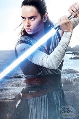 Star Wars Episode 8 Poster Rey Engage
