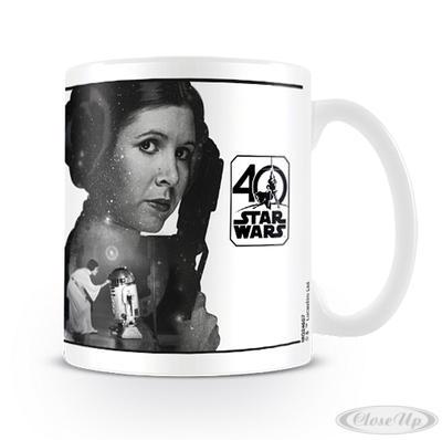 Star Wars 40th Anniversary Tasse Princess Leia - broschei