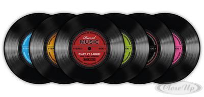 Schallplatten Untersetzer Record Music 6-teilig jetztbilligerkaufen