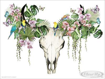 Summer Thornton Kunstdruck Tropical Skull