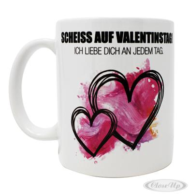Scheiss auf Valentinstag Tasse