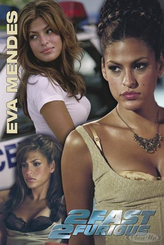 The Fast and the Furious 2 Poster Eva Mendes