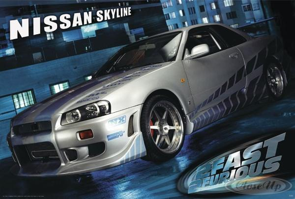 The Fast and the Furious 2 Poster Nissan Skyline
