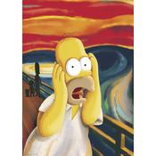 The Simpsons Riesenposter Homer Simpson - The Scream