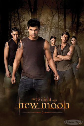 Twilight New Moon Poster Jacob &amp; the Wolf Pack