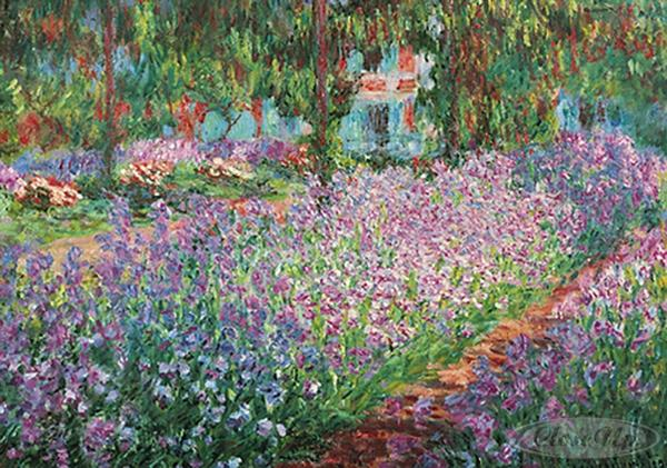 The Artist´s Garden At Giverny Kunstdruck