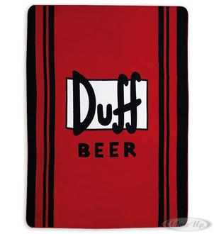 The Simpsons fleece blanket: Duff