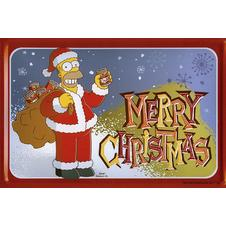 The Simpsons Blechschild Santa
